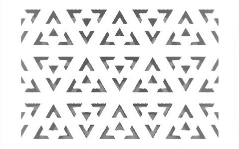 triangle perforated pattern design