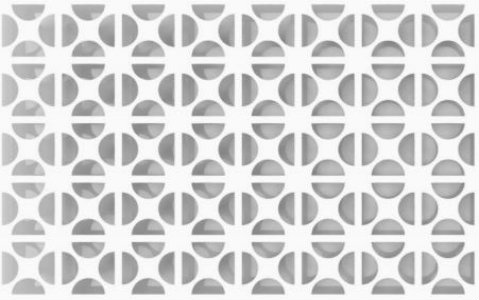 clover perforated pattern design