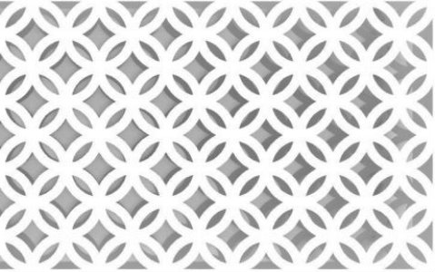 diamond perforated pattern design