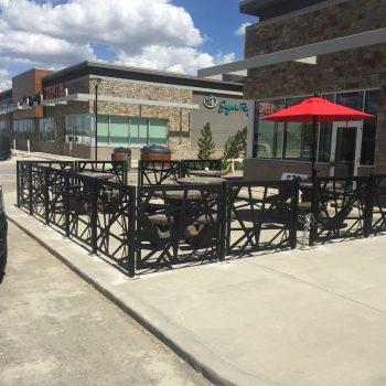 Outdoor Sidewalk Cafe Patio Fence
