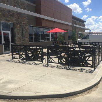 decorative outdoor sidewalk cafe patio fence